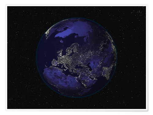 Juliste Earth at night - Europe