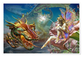 Juliste The dragon and the fairy
