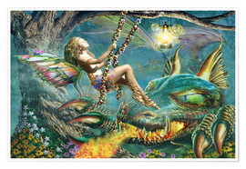Juliste Dragon and fairy swing