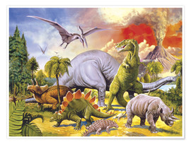 Juliste Land of the dinosaurs