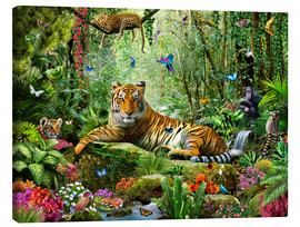 Canvas-taulu  Tiger in the jungle - Adrian Chesterman