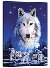 Canvas-taulu  Night of the wolves - Robin Koni