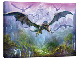 Canvas-taulu  The Valley Of Dragons - Dragon Chronicles