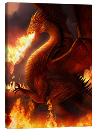 Canvas-taulu  Lord of the Dragons - Phil Straub