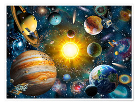 Juliste  Our Solar System - Adrian Chesterman