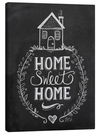 Canvas-taulu  Home Sweet Home - Lily & Val