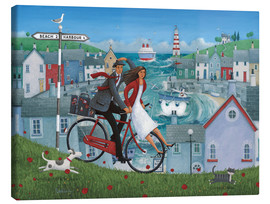 Canvas-taulu  Bicycle seascape - Peter Adderley