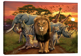 Canvas-taulu  African beasts - Andrew Farley