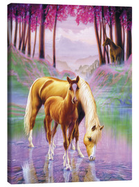 Canvas-taulu  Horse and foal - Andrew Farley
