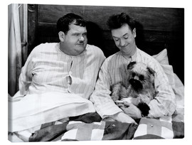 Canvas-taulu  Bedtime with Laurel & Hardy