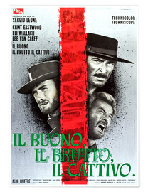 Juliste THE GOOD, THE BAD AND THE UGLY, (IL BUONO, IL BRUTTO, IL CATTIVO), Clint Eastwood, Lee Van cleef, El