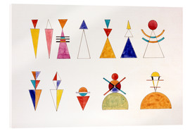 Akryylilasitaulu  Pictures at an Exhibition, figures - Wassily Kandinsky