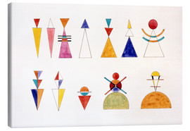 Canvas-taulu  Pictures at an Exhibition, figures - Wassily Kandinsky
