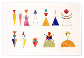 Juliste  Pictures at an Exhibition, figures - Wassily Kandinsky