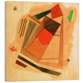 Puutaulu  Red in a Square - Wassily Kandinsky