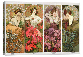 Canvas-taulu  Precious Stones and Flowers - Alfons Mucha