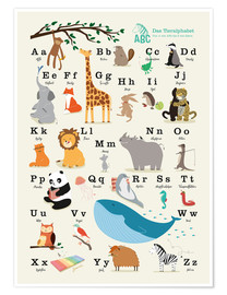 Juliste  Animal alphabet (German) - Sandy Lohß