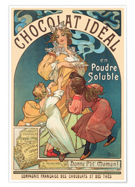 Juliste  Chocolat Ideal - Alfons Mucha