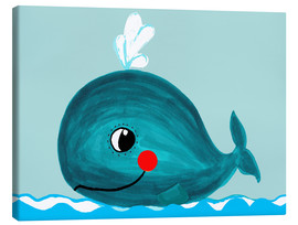 Canvas-taulu  Willfried, the friendly whale - Little Miss Arty