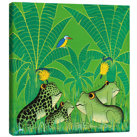 Canvas-taulu  Frogs in the swamp - Issa