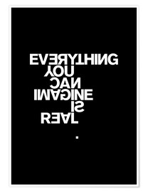 Juliste  Everything you can imagine is real (Pablo Picasso) - THE USUAL DESIGNERS