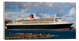 Puutaulu  Queen Mary 2 in the port of La Palma - MonarchC