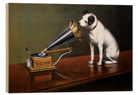 Puutaulu  His master's voice ad - François Barraud