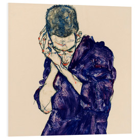 PVC-taulu  Youth with violet frock - Egon Schiele