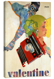 Canvas-taulu  Typewriter 'Valentine' by Olivetti