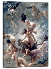 Canvas-taulu  Witches going to their Sabbath - Luis Ricardo Falero