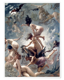 Juliste  Witches going to their Sabbath - Luis Ricardo Falero