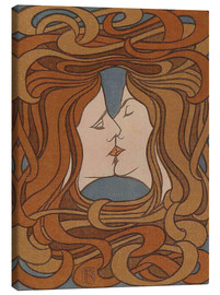 Canvas-taulu  The Kiss - Peter Behrens