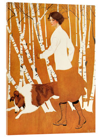 Akryylilasitaulu  Birches - Clarence Coles Phillips
