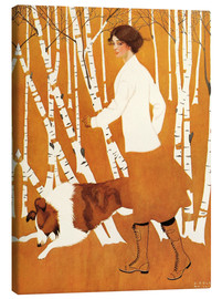 Canvas-taulu  Birches - Clarence Coles Phillips