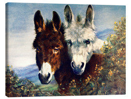 Canvas-taulu  The Wise Ones (Donkeys) - Lilian Cheviot