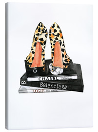 Canvas-taulu  Pumps and fashion reading - Rongrong DeVoe