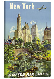 Canvas-taulu  New York United Airlines - Travel Collection