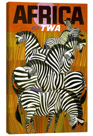Canvas-taulu  Africa Fly TWA - Travel Collection