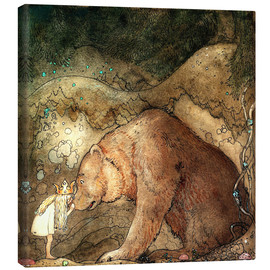 Canvas-taulu  Poor little bear - John Bauer