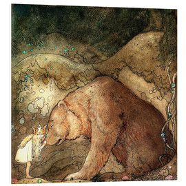 PVC-taulu  Poor little bear - John Bauer