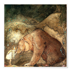 Juliste  Poor little bear - John Bauer