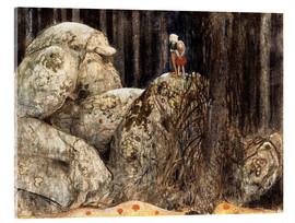 Akryylilasitaulu  The Child and the Stone Troll - John Bauer