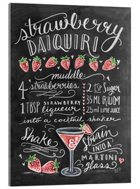 Akryylilasitaulu  Strawberry Daiquiri recipe - Lily & Val