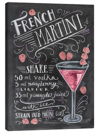 Canvas-taulu  French Raspberry Martini recipe - Lily & Val