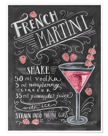 Juliste  French Raspberry Martini recipe - Lily & Val