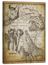 Canvas-taulu  The Spirit of Africa - Andrea Haase