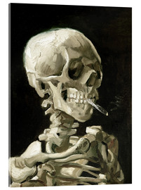 Akryylilasitaulu  Skeleton with a burning cigarette - Vincent van Gogh