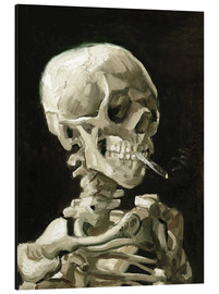 Alumiinitaulu  Skeleton with a burning cigarette - Vincent van Gogh