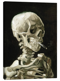 Canvas-taulu  Skeleton with a burning cigarette - Vincent van Gogh