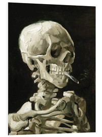 PVC-taulu  Skeleton with a burning cigarette - Vincent van Gogh